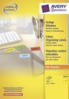 Avery Etiket  3459 105x148mm A6 geel 400stuks