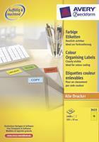 Avery Etiket  3455 105x37mm geel 1600stuks