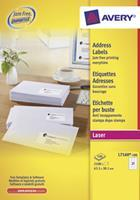 Avery Etiket  L7160-100 63.5x38.1mm wit 2100stuks