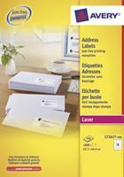 Avery Etiket  L7161-100 63.5x46.6mm wit 1800stuks