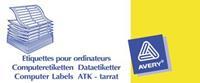 Etiket  Zweckform T1516 89x23.4mm 1-baans wit 6000stuks
