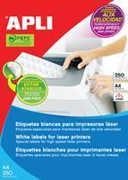 Apli witte etiketten ft 70 x 35 mm (b x h), 6.000 stuks, 24 per blad (2519)