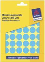Avery Zweckform 3375 ronde etiketten, diameter 18 mm, 1.056 etiketten, blauw