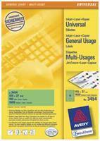 Avery Etiket  3329 76x39mm wit 192stuks