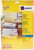 Avery Etiket  J8159-10 63.5x33.9mm wit 240stuks
