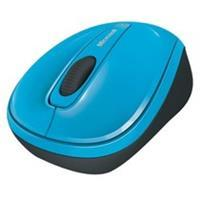 Microsoft Wireless Mobile Mouse 3500 - muis - 2.4 GHz - cyaanblauw (GMF-00272)