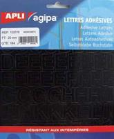 Agipa etiketten cijfers en letters letterhoogte 20 mm, 184 letters