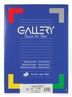 Gallery witte etiketten ft 105 x 48 mm (b x h), rechte hoeken, doos van 1.200 etiketten