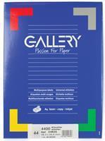 Gallery witte etiketten ft 48,3 x 25,4 mm (b x h), ronde hoeken, doos van 4.400 etiketten