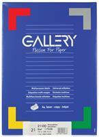 Gallery witte etiketten ft 70 x 38 mm (b x h), rechte hoeken, doos van 2.100 etiketten