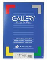 Gallery witte etiketten ft 99,1 x 67,7 mm (b x h), ronde hoeken, doos van 800 etiketten