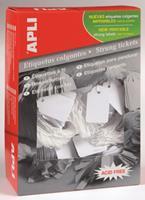 APLI Label  karton nr390 22x35mm wit 500stuks