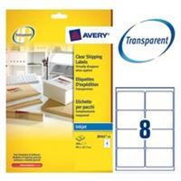 Avery Etiket  J8565-25 99.1x67.7mm transparant 200stuks