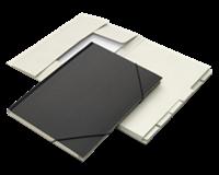 Office Combinatiemap  12 vaks met tab folio zwart