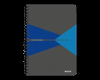 leitz Notitieboek  Office A5 lijn karton blauw