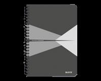 leitz Notitieboek  Office A5 lijn karton grijs