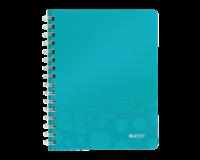 leitz Notitieboek  WOW A5 spiraal PP lijn ijsblauw