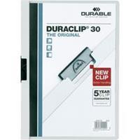 Durable Klemmap Duraclip® 1-30 vel. wit (pak 25 stuks)