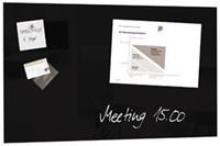 Sigel Glasbord  magnetisch 780x480x15mm zwart