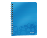 leitz Notitieboek  WOW A5 spiraal PP lijn blauw