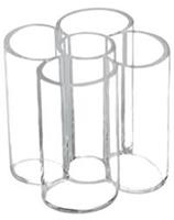 Pennenkoker  5 vaks acryl transparant