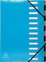 Exacompta Iderama sorteermap, 12 vakken, met elastosluiting, lichtblauw