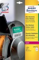 Avery ultra resistente etiketten voor buiten ft 99,1 x 42,3 mm (b x h), doos van 120 etiketten