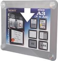 Securit vitrine posterframe A3, grijs