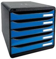 Exacompta ladenblok Iderama Big Box+ zwart/ijsblauw