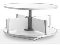 Moll klasseerzuil Multifile, tafelmodel, hoogte 45 cm, voor maximum 24 ordners, wit