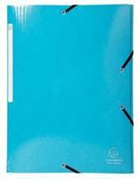 Exacompta Iderama elastomap met 3 kleppen, met rugetiket, lichtblauw