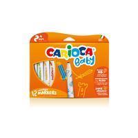 Carioca viltstifen Baby, kartonnen etui met 12 stuks in geassorteerde kleuren