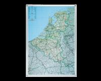 Legamaster Wegenkaart Benelux - Beschrijfbaar en Magnetisch