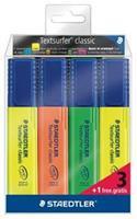 staedtler Markeerstift  364 Textsurfer set à 3 stuks assorti + 1 geel gratis