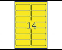 Avery ZWECKFORM neon gekleurde etiketten 99 x 38.1 mm. neon geel. L7263Y (pak 350 stuks)