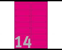 Avery ZWECKFORM neon gekleurde afneembare etiketten 99 x 38.1 mm. neon pink. L7363P (pak 350 stuks)