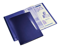 Hf2 Showmap  flexibel A4 30-tassen donkerblauw