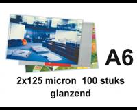gbc Lamineerhoes  A6 2x125micron 100stuks