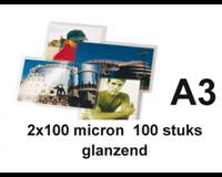 gbc Document lamineerhoes ft A3, 200 micron (2 x 100 micron), pak van 100 stuks