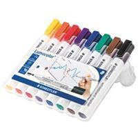 Staedtler whiteboardmarker Lumocolor, etui van 8 stuks in geassorteerde kleuren