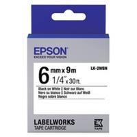 Epson LK-2WBN standard tape zwart op wit 6mm (origineel)