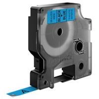 Dymo D1 tape 9 mm, zwart op blauw