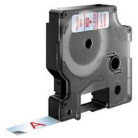 DYMO S0720520 / 45012 tape rood op transparant 12mm (origineel)
