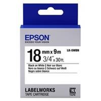 Epson LK-5WBN tape zwart op wit 18mm (origineel)