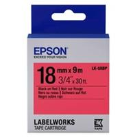 Epson LK-5RBP tape zwart op pastel rood 18mm (origineel)