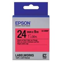 Epson LK-6RBP tape zwart op pastel rood 24mm (origineel)
