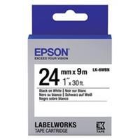 Epson LK-6WBN standaard tape zwart op wit 24mm (origineel)