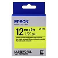 Epson LK-4YBF tape zwart op fluorescerend geel 12mm (origineel)