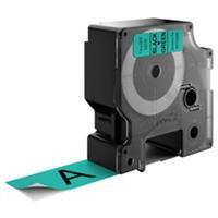 DYMO S0720990 / 53719 tape zwart op groen 24mm (origineel)