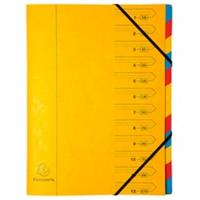 Exacompta Voorordner - met vaste rug en elastieken - 12 indelingen A4 (54129E)